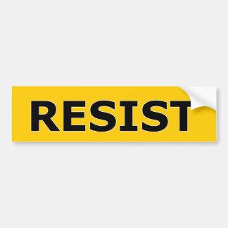 RESIST - Black on Yellow Bumper Sticker