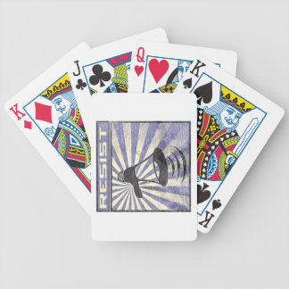 Resist (Blue an gray stripes) Bicycle Playing Cards