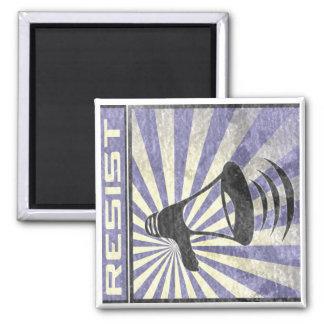 Resist (Blue an gray stripes) Magnet