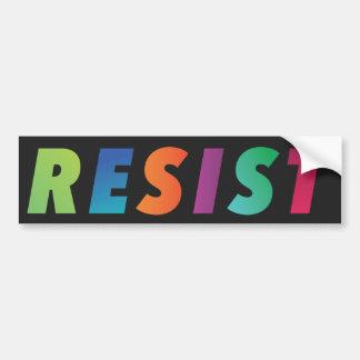 RESIST bumper sticker, color blast Bumper Sticker