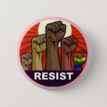 """RESIST BUTTON<br><div class=""""desc"""">One of the most effective buttons from the anti-GOP backlash,  perhaps the greatest civil resistance in U.S. history.</div>"""
