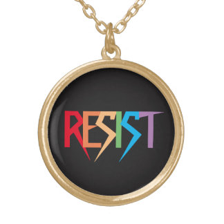 Resist Colorful Rainbow Necklace