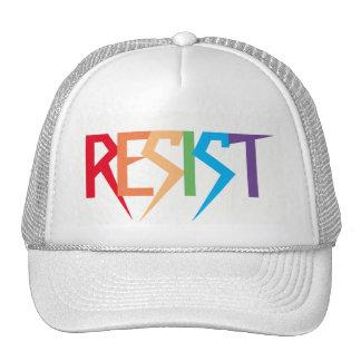 Resist Colorful Rainbow Trucker Hat