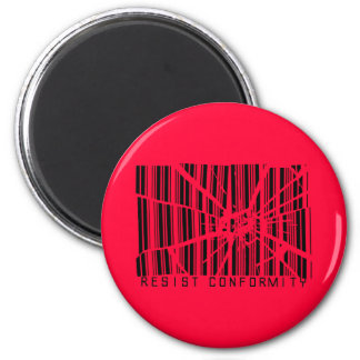 Resist Conformity 2 Inch Round Magnet
