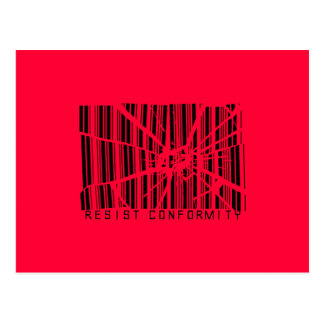 Resist Conformity Postcard