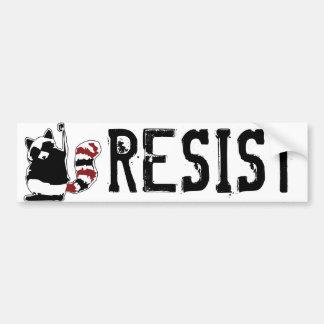 """Resist Donald Trump Raccoon """"Resist Fist"""" Bumper Bumper Sticker"""