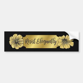 Resist Elegantly Bumper Sticker