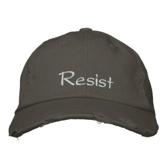 Resist Embroidered Cap