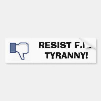 Resist facebook bumper sticker