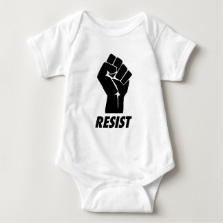 resist fist baby bodysuit