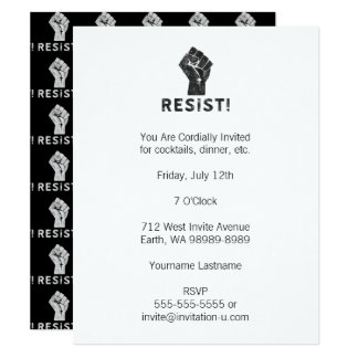 Resist Fist Card