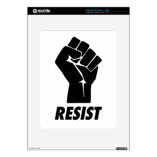 resist fist iPad decal