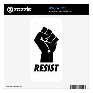 resist fist iPhone 4 skins