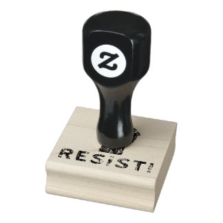 Resist Fist Rubber Stamp