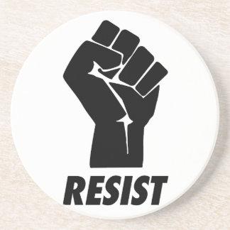resist fist sandstone coaster