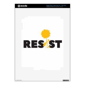 resist flower skin for iPad 3