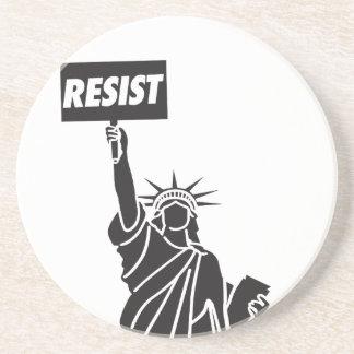 Resist_for_Liberty Sandstone Coaster