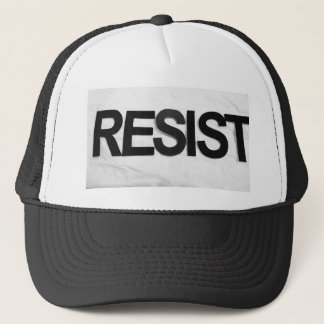 RESIST - handmade text by me rw Trucker Hat