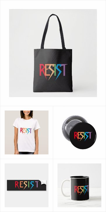 Resist in Rainbow Colors