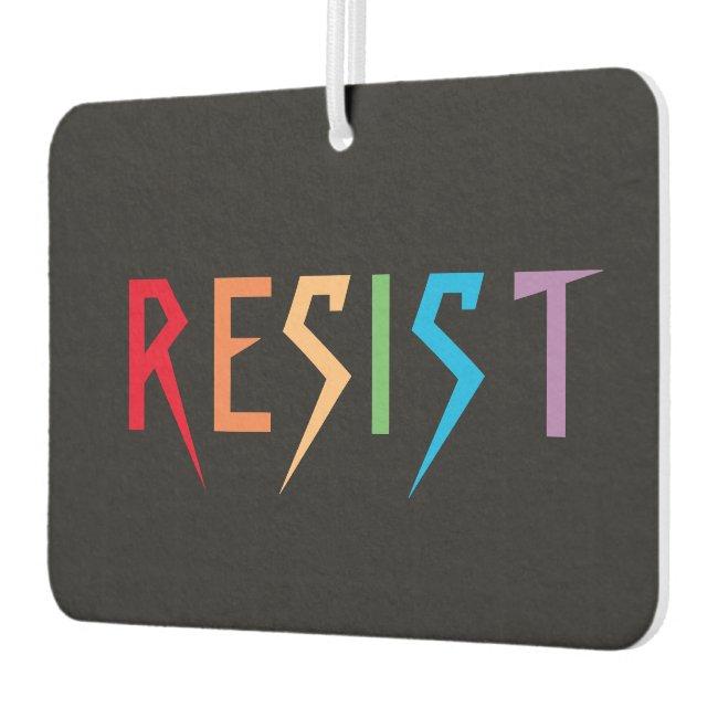 Resist in Rainbow Colors Air Freshener