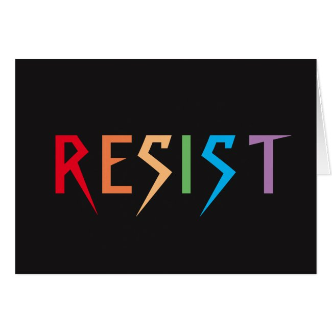Resist in Rainbow Colors Blank Card