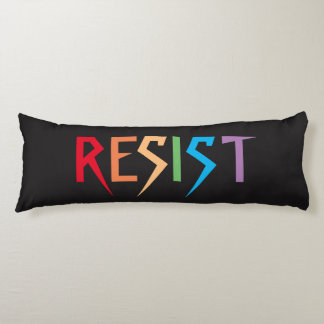 Resist in Rainbow Colors Body Pillow