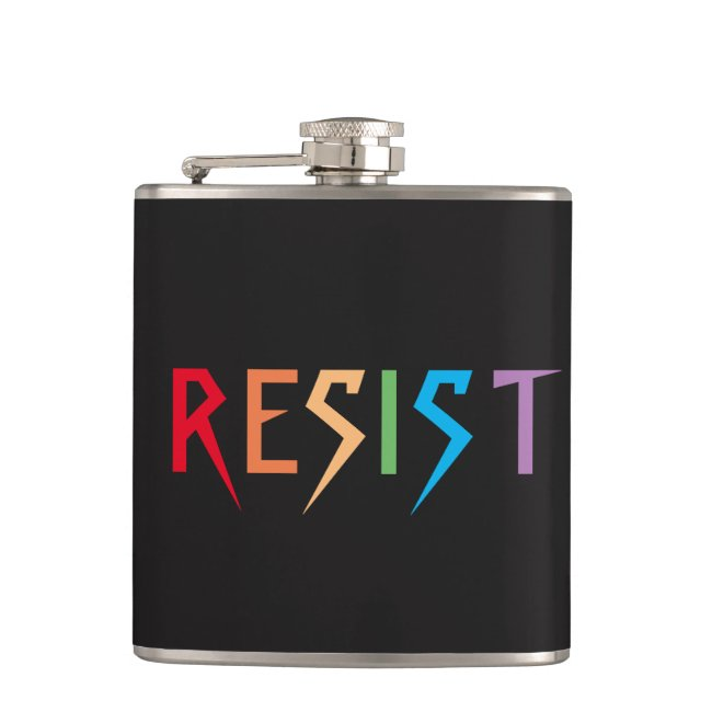 Resist in Rainbow Colors Flask