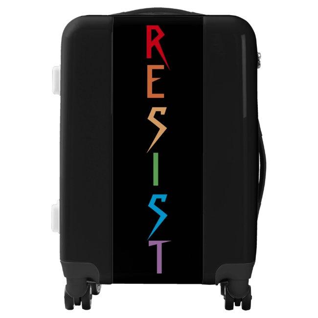 Resist in Rainbow Colors Luggage