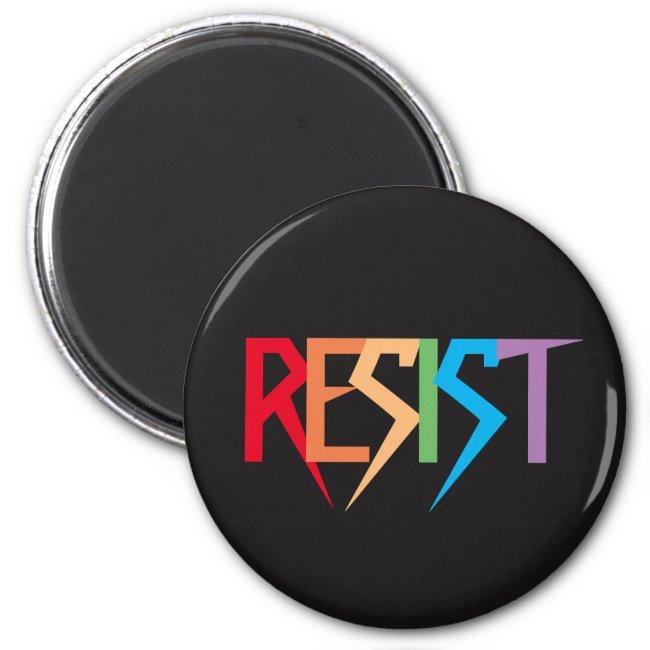 Resist in Rainbow Colors Magnet