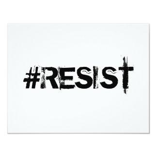 #RESIST Invitation - Black Text