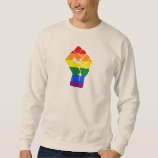 #Resist LGBT Rainbow Raised Fist Protest Sweatshirt