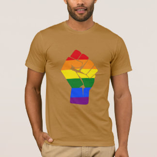 #Resist LGBT Rainbow Raised Fist Protest T-Shirt
