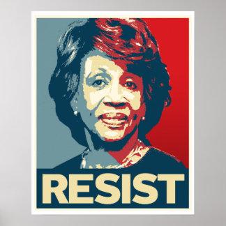 RESIST - Maxine Waters Propaganda Poster --