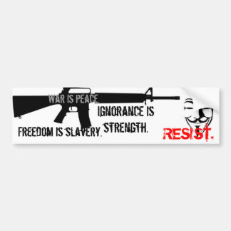 Resist - Nineteen Eighty-Four Car Bumper Sticker