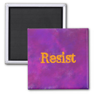 Resist on Purple Watercolor 2 Inch Square Magnet