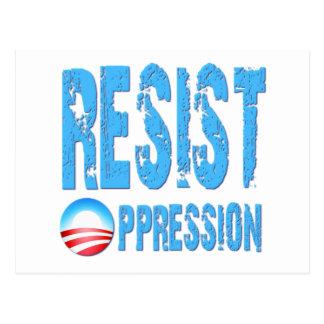 Resist Oppression Anti Obama Postcard