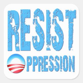 Resist Oppression Anti Obama Stickers