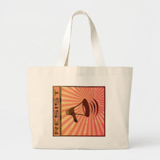 Resist oppression large tote bag