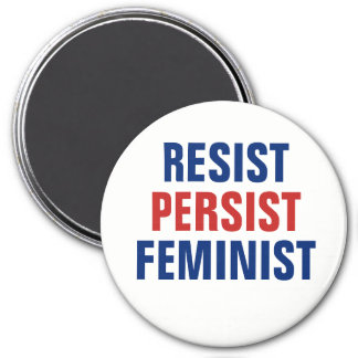 Resist Persist Feminist Resistance Red White Blue Magnet