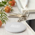 """resist / persist"" light grey white - keychain"