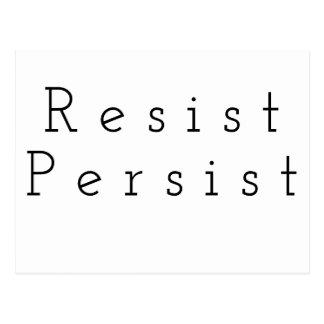 Resist Persist Postcard