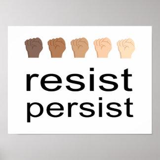 Resist Persist Poster