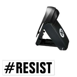 #Resist Political Protest, custom ink color Pocket Stamp