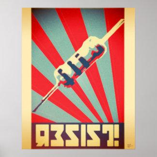 Resist propaganda poster