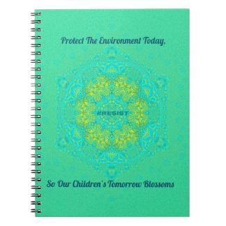 #Resist Protect Environment Anti-Trump Mandala Notebook