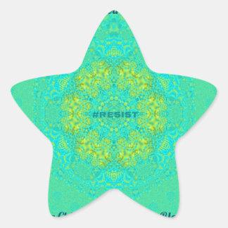 #Resist Protect Environment Anti-Trump Mandala Star Sticker