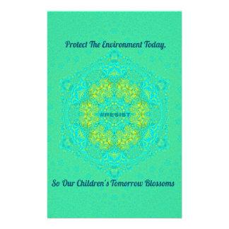 #Resist Protect Environment Anti-Trump Mandala Stationery