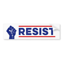 Resist Protest Anti-Trump Bumper Sticker