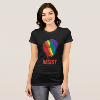 RESIST! RAINBOW FIST OF SOLIDARITY T-Shirt