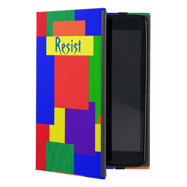 Resist Rainbow Patchwork Quilt iPad Pro Case